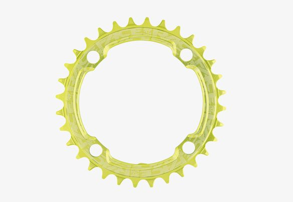 32t Round Narrow Wide 1x Green Reinforced Chainring Кръгла Плоча