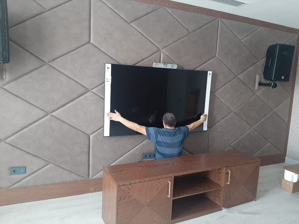 Навеска телевизоров на стену. Установка кронштейнов