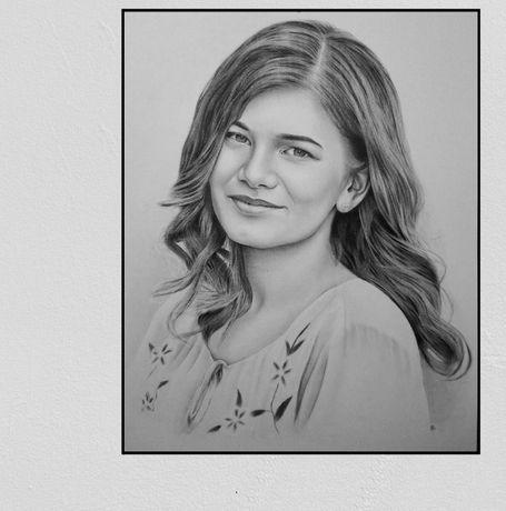 Portrete pictate alb-negru dupa pozele tale. Portrete la comanda