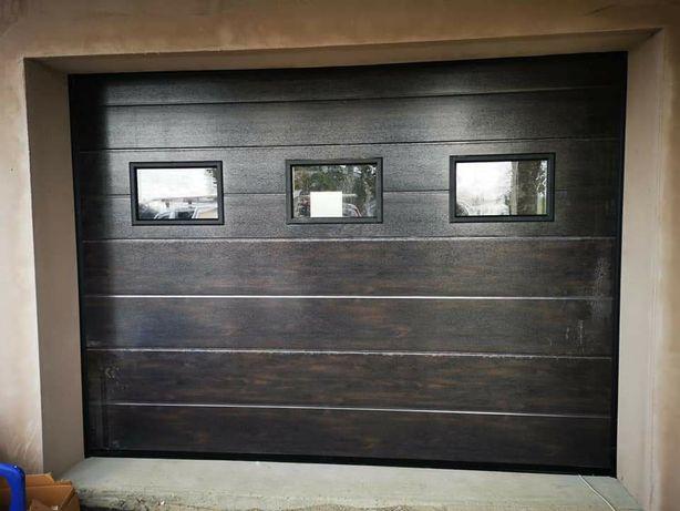 Ușă garaj L3000x2150 culoare wenge.Motor