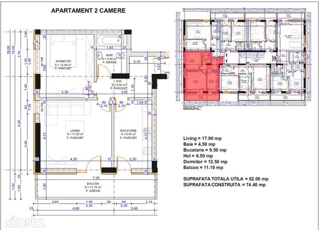 apartament 2 camere, bloc nou, central