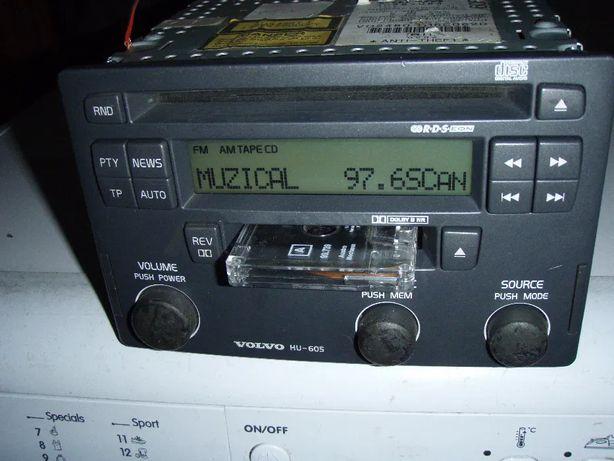 CD audio si casetofon cu autorevers digital Volvo Hu-605, detin codul