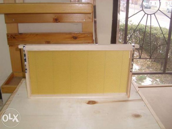 Дървени рамки за кошери - сглобени, обтелени, с восъчни основи
