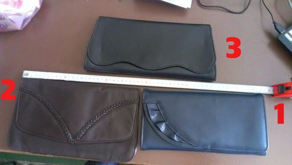 Малки дамски чанти тип портмоне , кожени