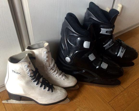 Зимни кънки с обувки от Германия размер 34 белите и 43/44 черните