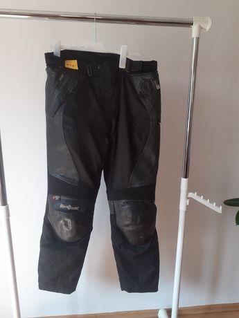 Pantaloni moto textil si piele