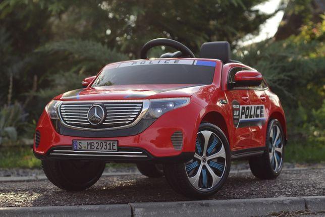 Masinuta electrica pentru copii Mercedes EQC 400 90W POLICE #RED