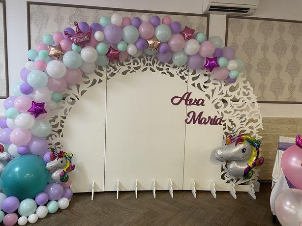 Photo corner- Panou dantelat baloane/floral