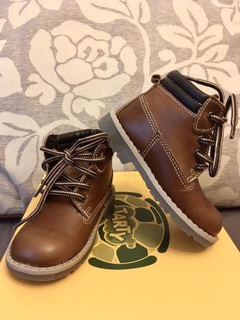 Bocanci ghete piele naturala NOI ortopedici fata/baiat cizme pantof 22