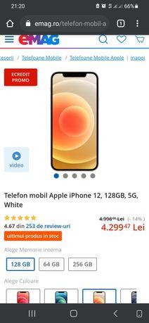 Iphone 12  Alb 128 gb