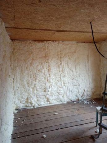 Izolatii spuma poliuretanica Izolatie mansarda pod hala pret mic
