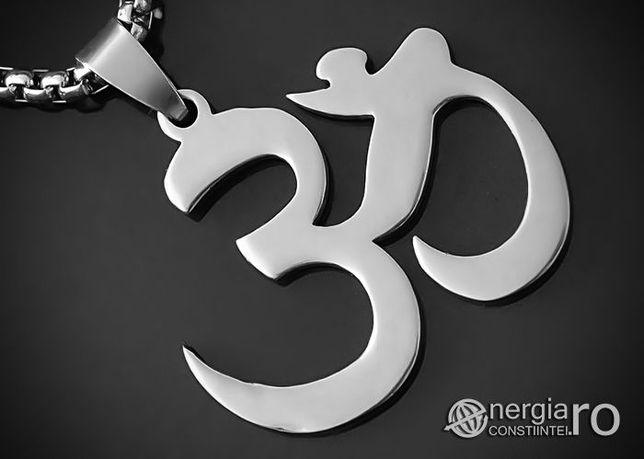 Amuletă, Pandantiv AUM / OM (Simbol Hindus) INOX - cod PND012