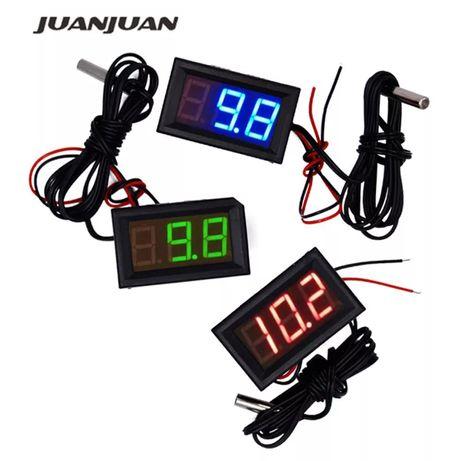 Led термометър 12V -50 +120 лед термо датчик сензор температура