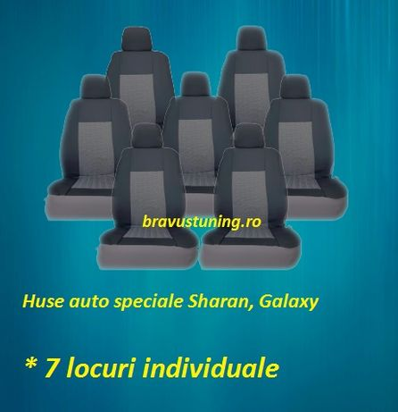 Huse scaun auto Dedicate SHARAN, GALAXY 7 locuri