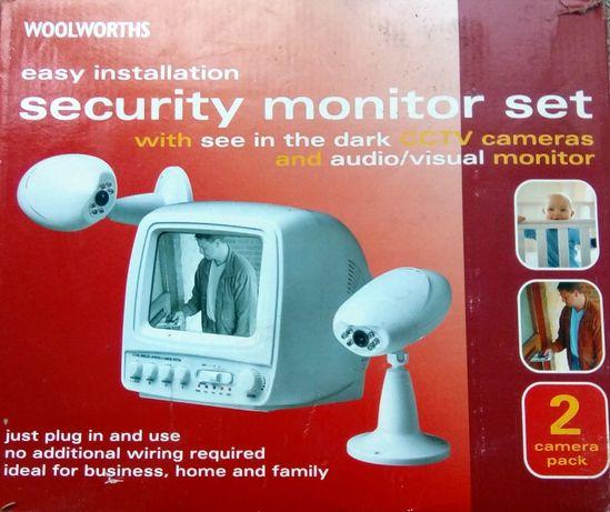 KIT supraveghere video cu 2 camere Wi-Fi alb-negru (defect)