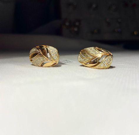 Золотые серьги 585 #ас8180