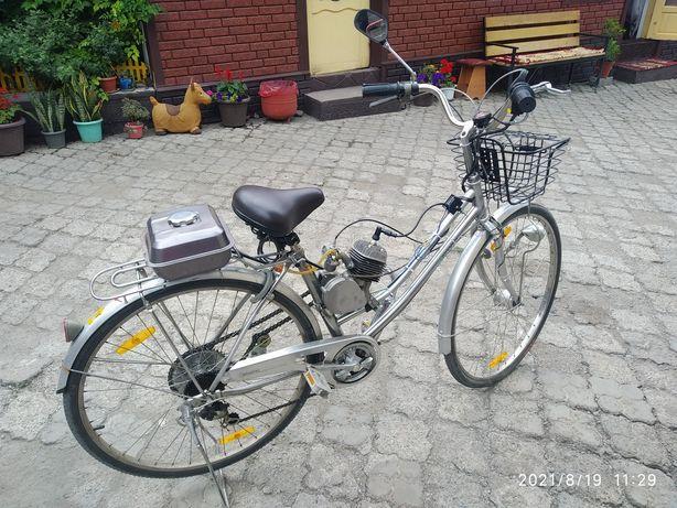 Продам веломопед новый мотор велосипед Япония