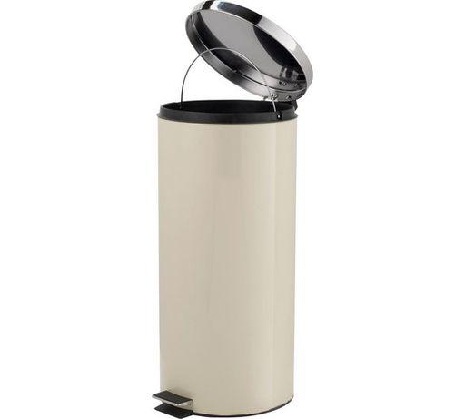 Coș gunoi pe crem si negru30L inoxidabil