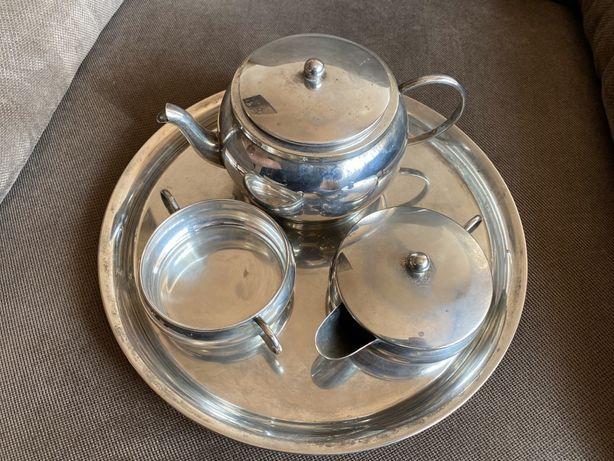 Set cafea argintat