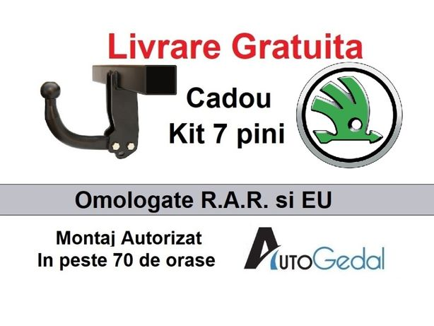Carlig Remorcare SKODA Octavia,Fabia,Superb,Karoq,Roomster,Rapid etc