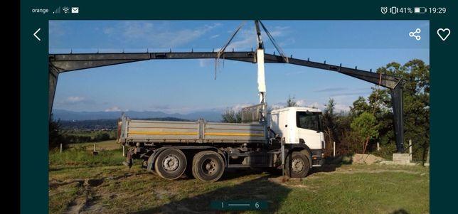 Efectuez transport cu camion de 26T. Macara și basculare