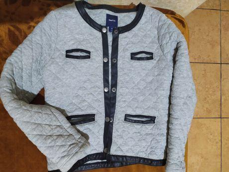 Жакет курточка шанель утеплённый для девочки 8 лет