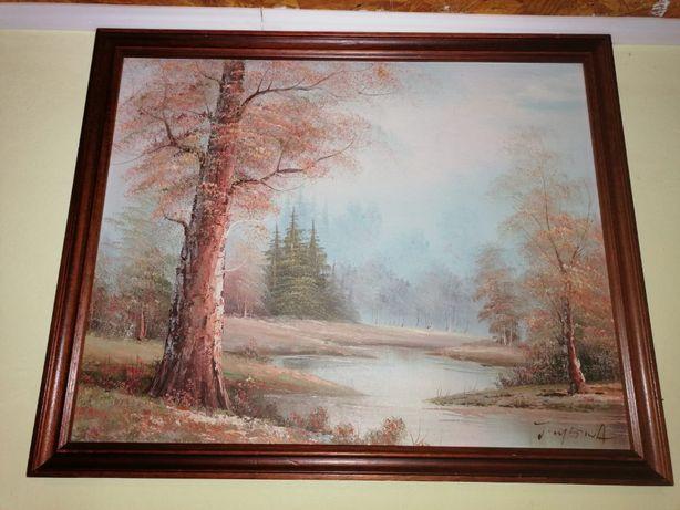 Tablou - Ulei pe carton - Semnat - 45x55 cm