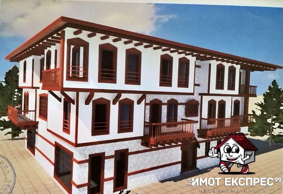Къща с двор и проект за семеен хотел, ъглов парцел, с.Хвойна