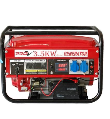 Бензинов четиритактов генератор за ток 3.5kw с Ел стартер