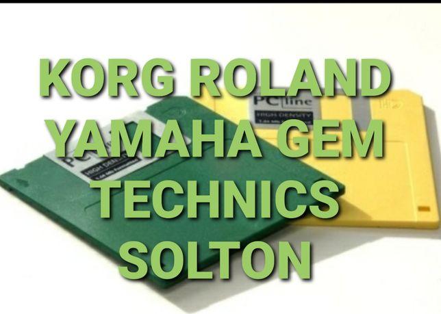 Discheta , program , set orga Korg Roland Yamaha Gem Technics