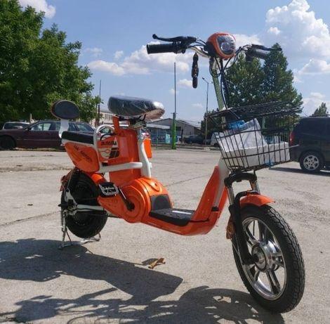 Електрически Скутер – Велосипед Max Motors Orange 500W