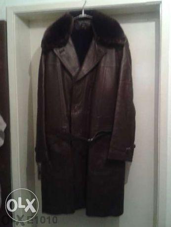 Кожено мъжко палто - шуба естествена.кожа