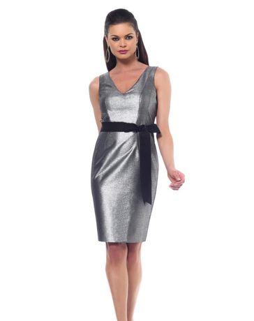 Платье серебристый металлик Nue by Shani, S
