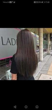 Естествена коса. Ползвана малко.