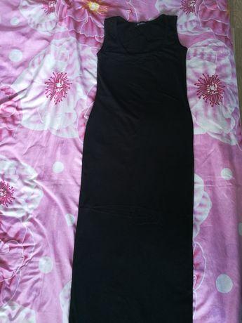 Нова черна дълга дамска рокля