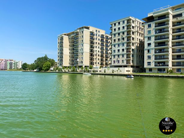 Apartament Deluxe 3 camere Solid Residence Mamaia vedere frontală lac
