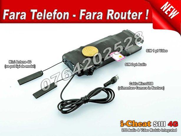 iCheat S3 4G LTE mini Camera in Nasture cu Casca de Copiat All in One