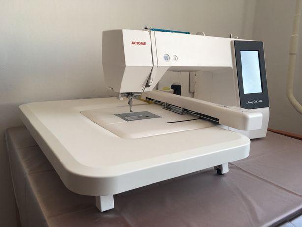 Janome MC500E вышивальная машинка + 12 нитей и стойка в подарок