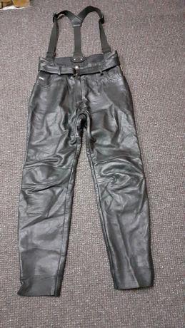 Pantaloni piele dama moto cu bretele Polo mar.44