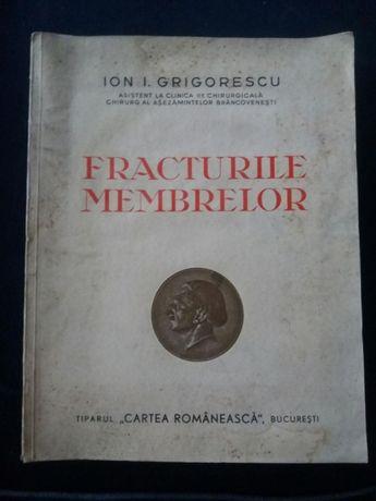 """Ion I.Grigorescu """"Fracturile membrelor"""" Caerea Romaneasca 1938 timbrat"""