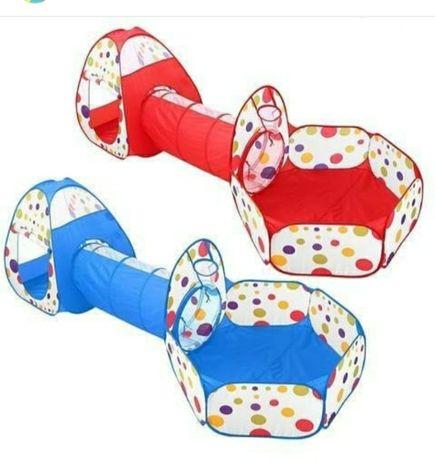 """Детская игровая палатка """"3 в 1"""" с туннелем и сухим бассейном."""