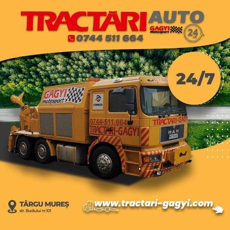 Tractari camioane,utilaje și vehicule grele la prețuri accesibile 24/7