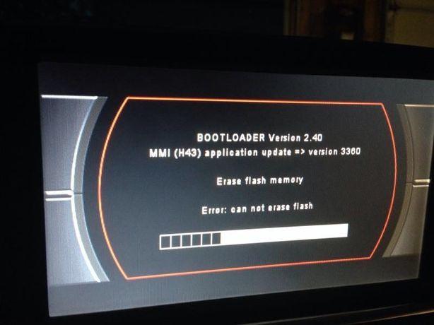 Audi MMI 2G MMI 3G RNS Bootloader COD PIN Eroare blocat A4 A5 A6 Q7