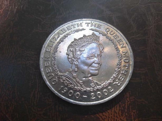 Moneda comemorativă 5 pounds Elisabeth 1900 - 2002