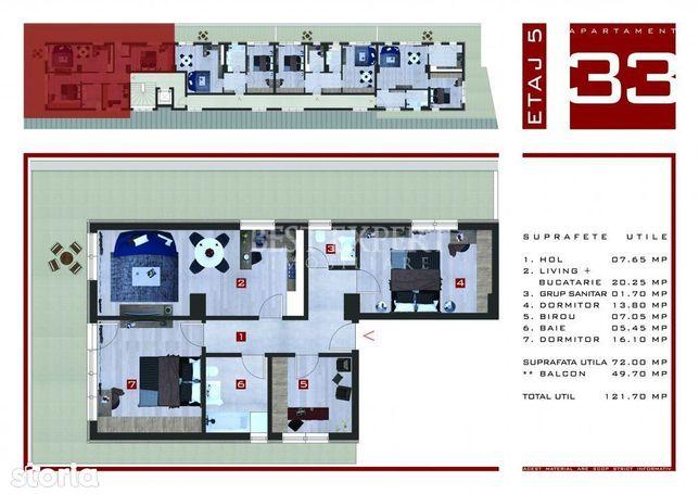 PROMO Apartament 4 Camere + Terasa 50 mp Titan - Theodor Pallady
