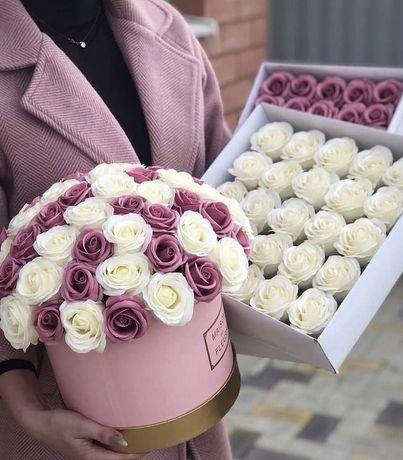 Цветы из мыла ,долговечные розы:)