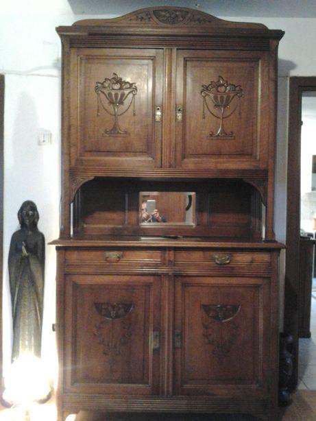 Bufet, crescent Artdeco lemn masiv