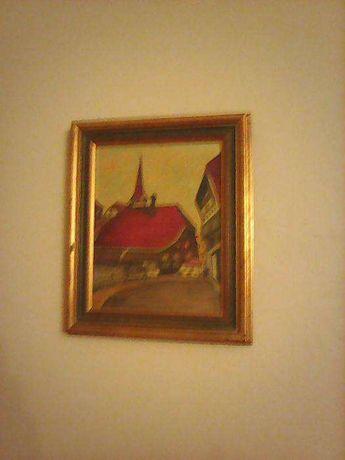 Tablouri Vechi pictate pe pinza si placaj