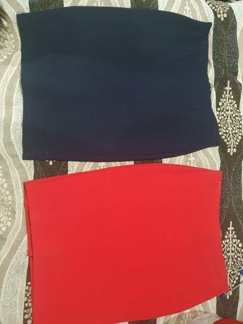 Юбка женская (синий, красный)