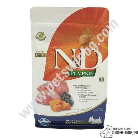 ND Mini Adult с Тиква, Агне и Боровинки 0.8/2.5/7кг - Храна за Кучета